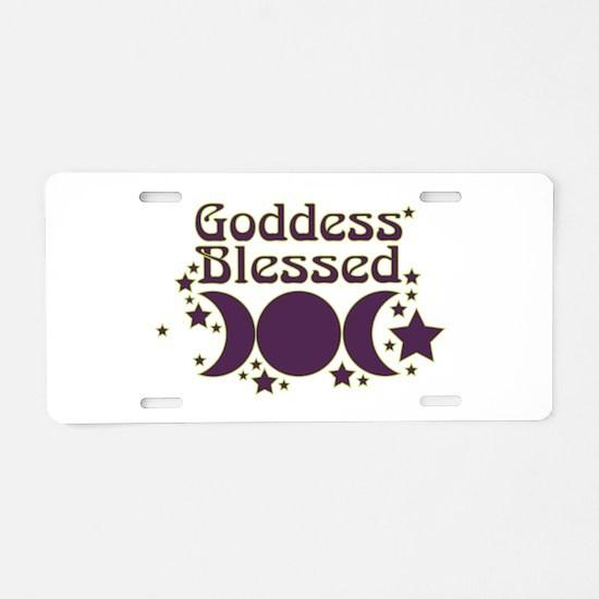 Goddess Blessed Aluminum License Plate