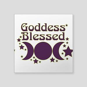 "Goddess Blessed Square Sticker 3"" x 3"""