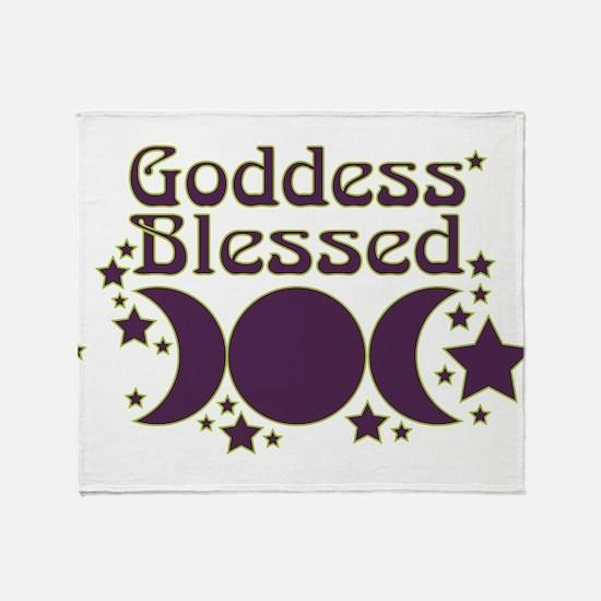 Goddess Blessed Throw Blanket