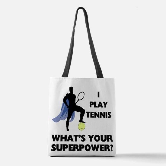 Tennis Superhero Polyester Tote Bag