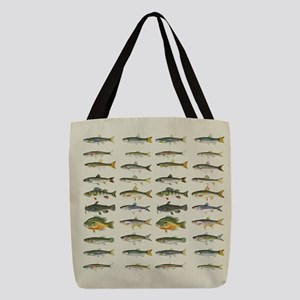 Freshwater Fish Chart Polyester Tote Bag