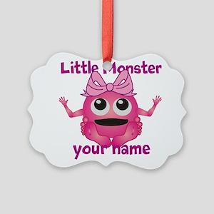 Little Girl Monster Picture Ornament