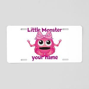 Little Girl Monster Aluminum License Plate