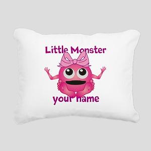 Little Girl Monster Rectangular Canvas Pillow