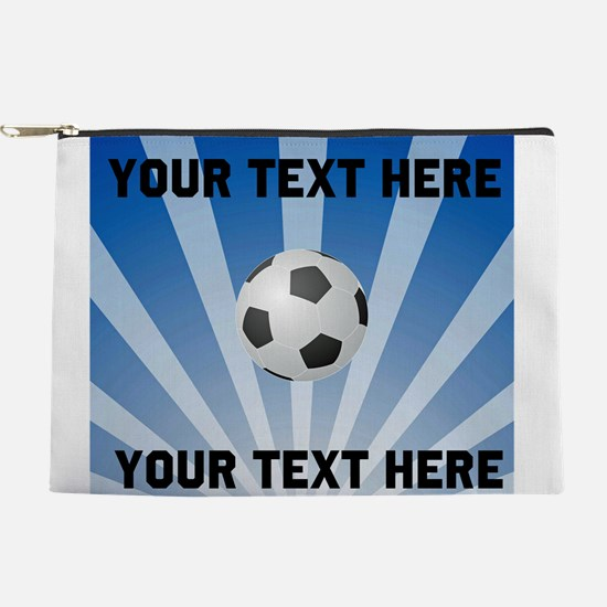 Personalized Soccer Makeup Pouch