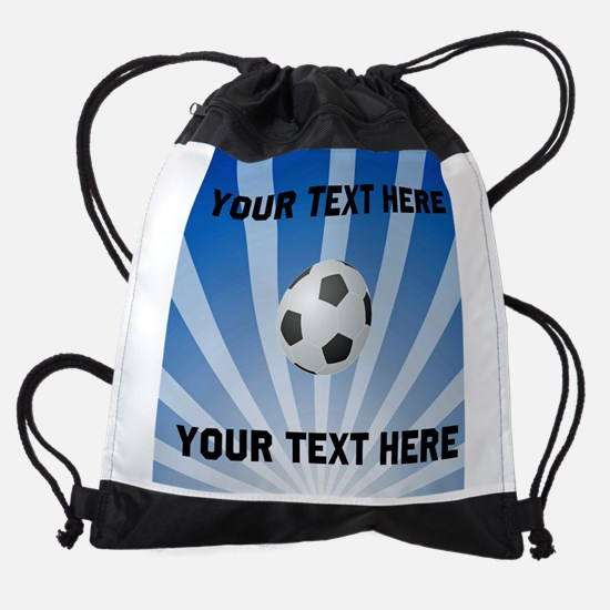 Personalized Soccer Drawstring Bag