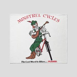 Minstrel Cycles Throw Blanket