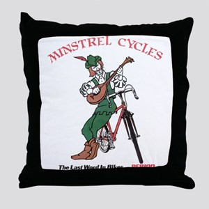 Minstrel Cycles Throw Pillow