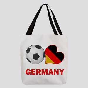 SOCCER-peace-love-germany Polyester Tote Bag