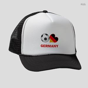 SOCCER-peace-love-germany Kids Trucker hat
