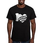 I Love Newtown Men's Fitted T-Shirt (dark)