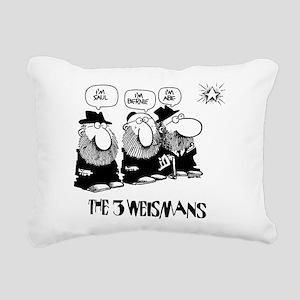 The 3 Weisman Rectangular Canvas Pillow