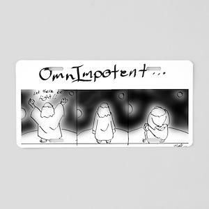 OmnImpotent Aluminum License Plate