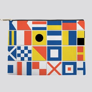 Nautical Flags Makeup Pouch
