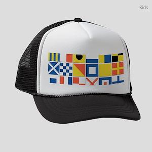 Nautical Flags Kids Trucker hat