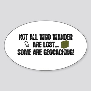 Not all who wander Sticker (Oval)
