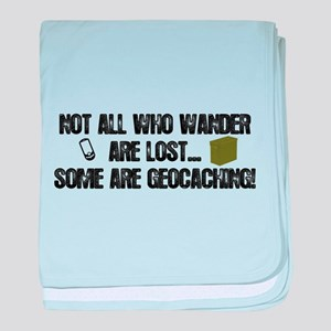 Not all who wander baby blanket