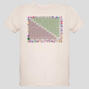 Upside down math chart Organic Kids T-Shirt