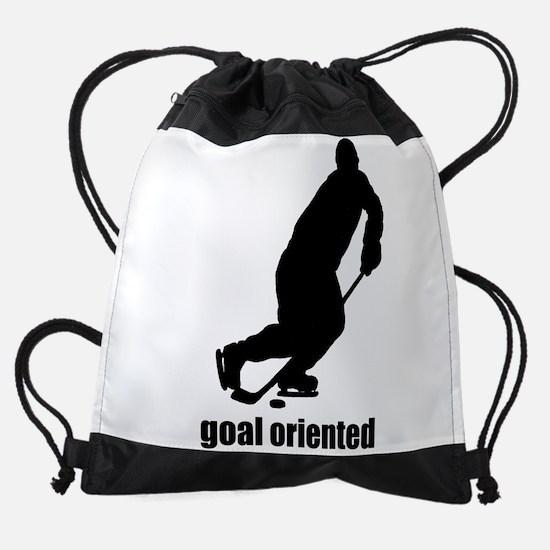 Goal Oriented Hockey Drawstring Bag