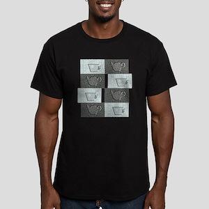 chacha3 Men's Fitted T-Shirt (dark)