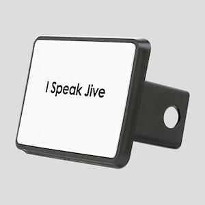 I Speak Jive Rectangular Hitch Cover