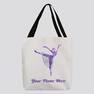Personalized Ballerina Polyester Tote Bag