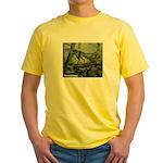 Herrerasaurus Dinosaur Yellow T-Shirt