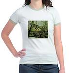 Herrerasaurus Dinosaur (Front) Jr. Ringer T-Shirt