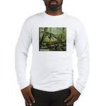 Herrerasaurus Dinosaur (Front) Long Sleeve T-Shirt