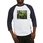 Herrerasaurus Dinosaur (Front) Baseball Jersey