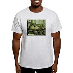 Herrerasaurus Dinosaur Ash Grey T-Shirt