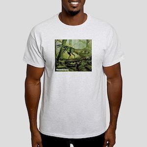 Herrerasaurus Dinosaur (Front) Ash Grey T-Shirt