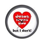 Jesus/But I don't! Wall Clock