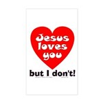 Jesus/But I don't! Rectangle Sticker