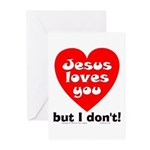 Jesus/But I don't! Greeting Cards (Pk of 10)