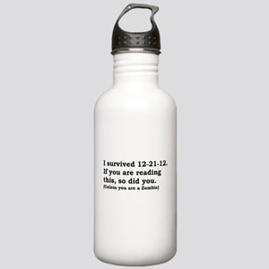 I SURVIVED 12-21-12 Stainless Water Bottle 1.0L