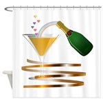 Champagne Party Celebration Shower Curtain