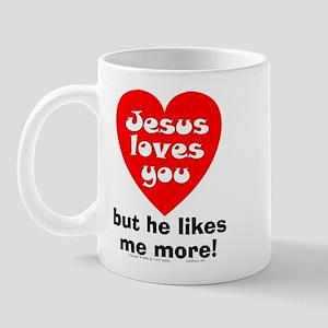 Jesus/Likes Me More Mug