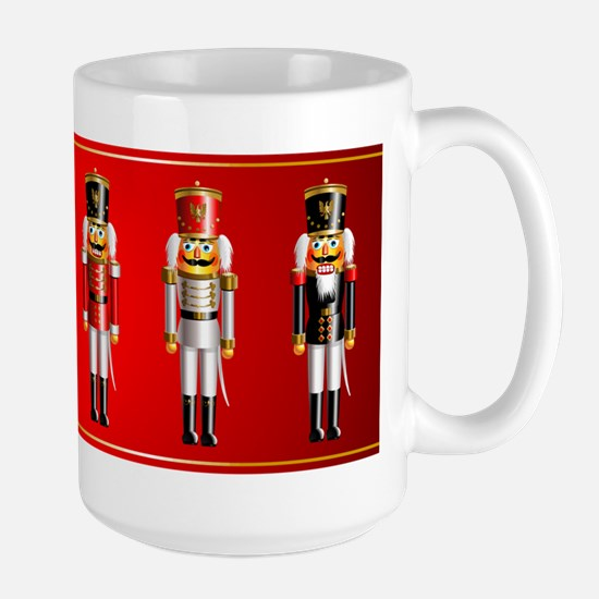 Nutty Nutcracker Toy Soldiers Large Mug