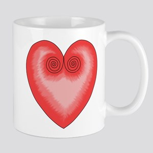 Amor - Corazon - Rosa y Rojo Taza / Mug