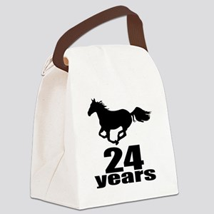 24 Years Birthday Designs Canvas Lunch Bag