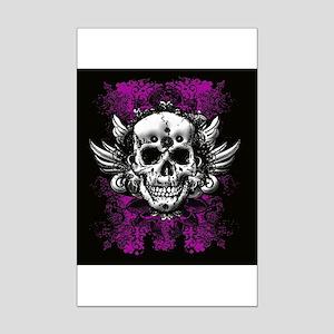 Grunge Skull Mini Poster Print