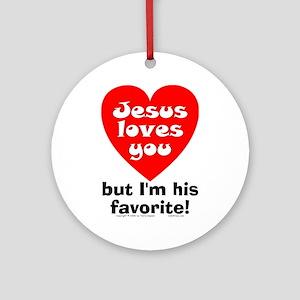 Jesus/His Favorite Ornament (Round)