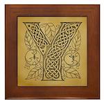 Celtic Letter Y Framed Tile