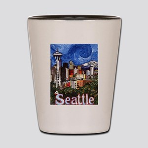 Seattle Skyline Shot Glass