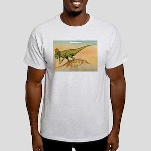 Maiasaura Dinosaur (Front) Ash Grey T-Shirt