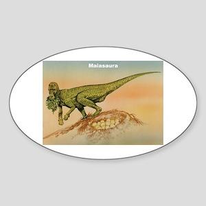 Maiasaura Dinosaur Oval Sticker