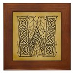 Celtic Letter W Framed Tile