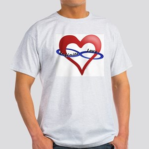 Infinite Love curved text Ash Grey T-Shirt