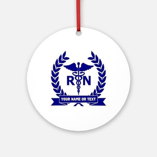 RN (Registered Nurse) Round Ornament